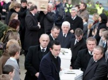 The funeral of Sharon Whelan (30), and her two daughters, Zara (7) and Nadia (2).