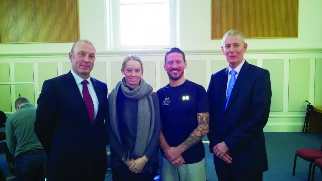 ABOVE: (l-r) Assistant Commissioner John Twomey; Derval O'Rourke; John Kavanagh; Detective Superintendent Brian Brunton