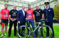 (l-r): Gerry Quinn, GNDU; Liam Hogan (Tour De Force committee); Enda Kenny, TD; Keith Duffy, ISPCC; Terry Brennan (Tour De Force committee); John Twomey, Assistant Commissioner