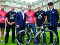 (l-r): Gerry Quinn, GNDU; Liam Hogan (Tour De Force committee); Enda Kenny, TD; Keith Duffy, ISPCC; Terry Brennan (Tour De Force committee); John Twomey, Assistant Commissioner