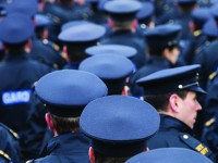 2015/10/15: GARDA TONY GOLDEN FUNERAL - BLACKROCK, CO. LOUTH: PIC SHOWS:  Many hundred Gardaí gathered in the grounds of the The Fairways Hotel, before marching to the state funeral of murdered Garda, Tony Golden, in Blackrock, Co. Louth. PHOTO: CONOR Ó MEARÁIN