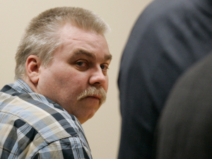 PICTURED:  Steven Avery was jailed for 32 years based on Bernsteen's identification of Avery as her assailant, despite Avery's defence producing 16 alibi witnesses corroborating his whereabouts