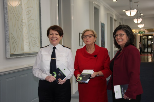 Garda Commissioner Noirin O'Sullivan, Tánaiste & Minister for Justice & Equality Frances Fitzgerald and the chair of the Policing Authority Josephine Feehily pictured at the Launch of the Code of Ethics for the Garda Síochána 23/01/2017. Source: http: www.policingauthority.ie
