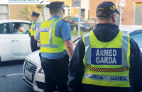 Keeping a close eye: When it comes to Hybrid Checkpoints, uniformed and armed gardaí of the Frontline, make for a truly effective presence