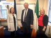 The GNBCI Engine Room: Pictured (l – r): Ms. Elaine Tonna-Barthet, EO, Central Admin. Dept; D/Chief Superintendent, Walter O'Sullivan; Ms. Anna O'Connor, HEO, Principal Administrative Officer, Central Admin Dept.