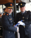 Garda Commissioner Drew Harris presenting the I.P.A Scholarship to Garda Andrew Welsh